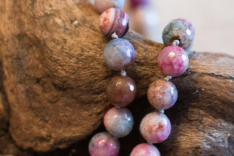 Faceded Agate Beads in pink color. Lovely!