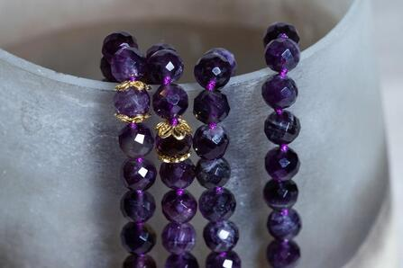 Natural Amethyst Faceted Beads